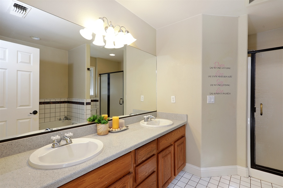 Real Estate Photography - 1638 American River Trail, Cool, CA, 95614 - Master Bathroom