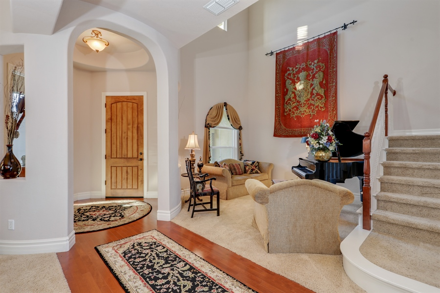 Real Estate Photography - 4420 Longview Dr, Rocklin, CA, 95677 - Rotunda-Entry Way To Formal Living/Dining Room