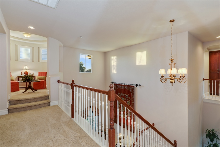 Real Estate Photography - 4420 Longview Dr, Rocklin, CA, 95677 - 2nd Level...Upstairs Rotunda Used As Reading Room