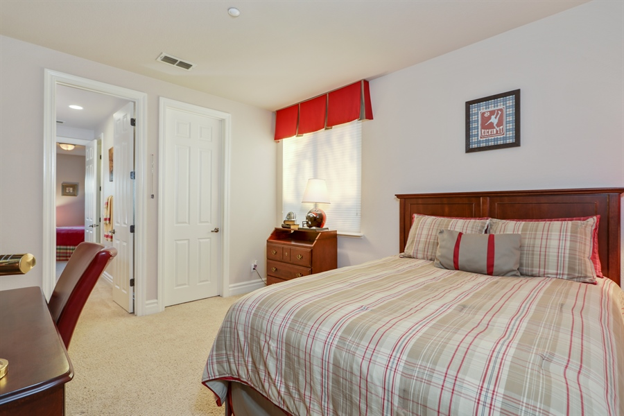 Real Estate Photography - 4420 Longview Dr, Rocklin, CA, 95677 - 2nd Bedroom, Custom Designed Window/Bed Covering