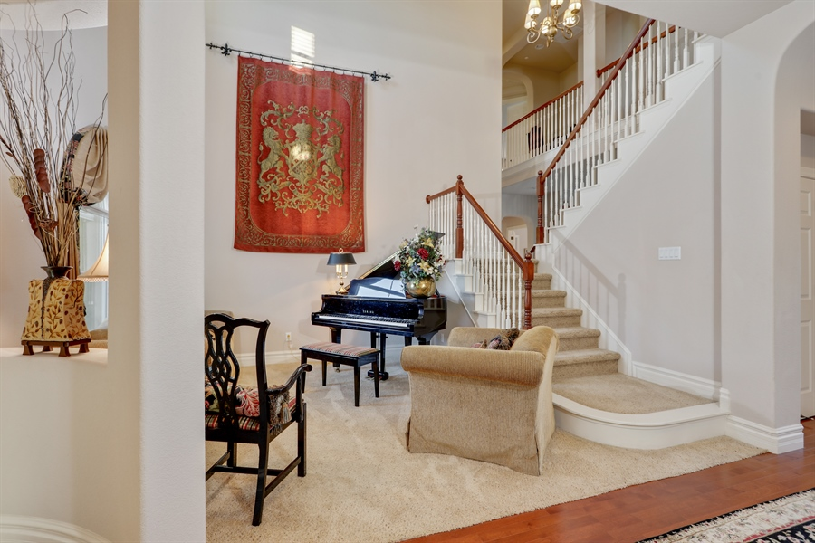 Real Estate Photography - 4420 Longview Dr, Rocklin, CA, 95677 - Formal Living Boasts A Baby Grand Piano