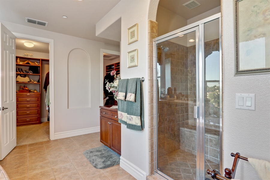 Real Estate Photography - 4420 Longview Dr, Rocklin, CA, 95677 - His And Hers Custom Designed Walk-In Closets