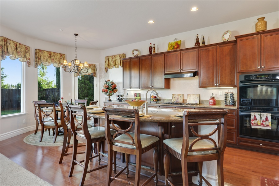 Real Estate Photography - 4420 Longview Dr, Rocklin, CA, 95677 - Chef's Dream Kitchen With Breakfast Nook