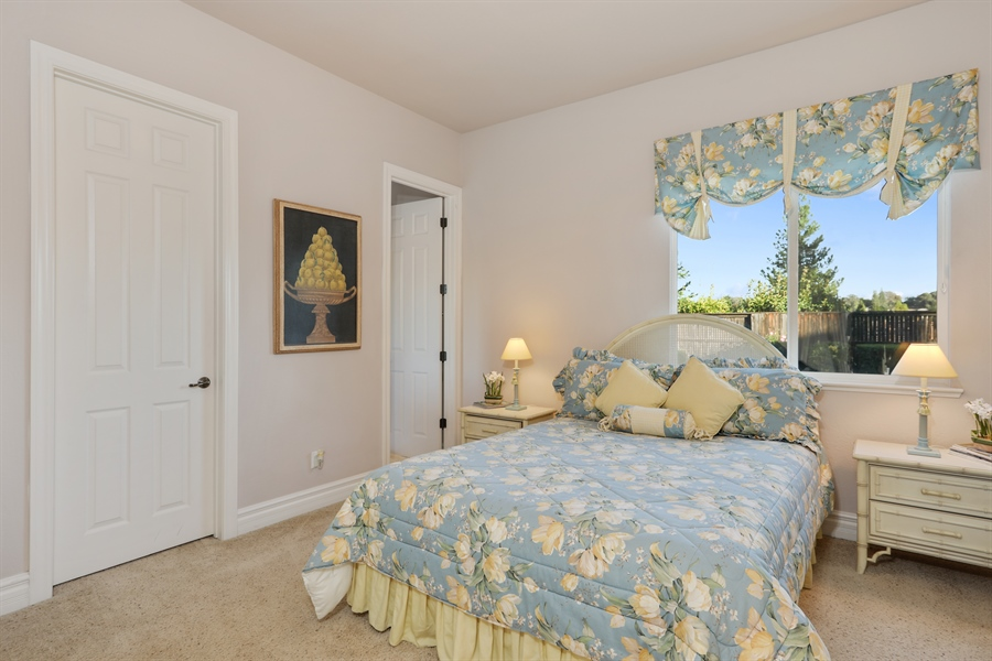Real Estate Photography - 4420 Longview Dr, Rocklin, CA, 95677 - Spacious Guest Suite With View Of The Backyard