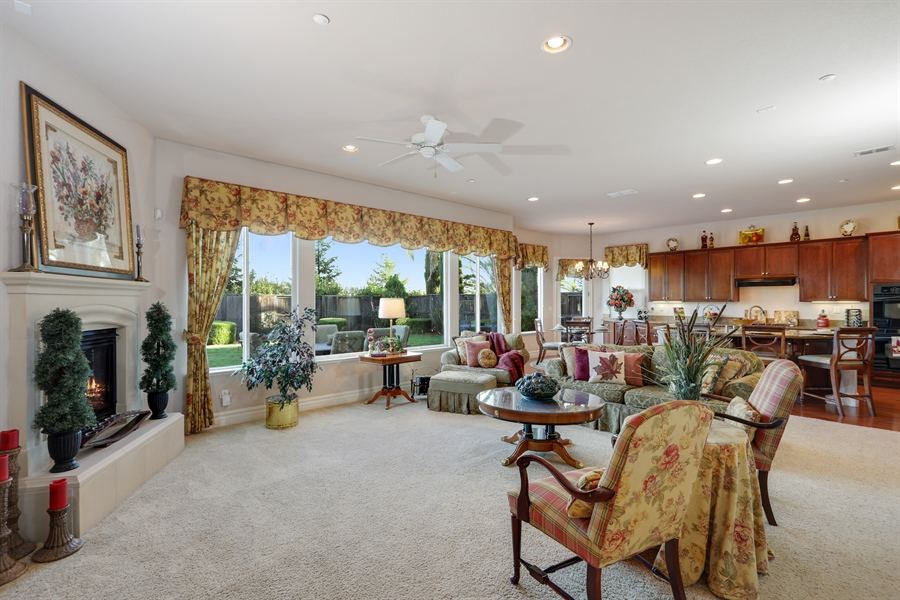 Real Estate Photography - 4420 Longview Dr, Rocklin, CA, 95677 - Family Room-Kitchen Combo To Host Gatherings