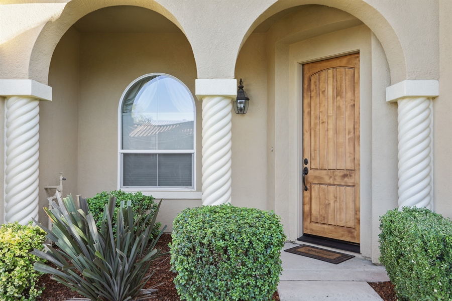 Real Estate Photography - 4420 Longview Dr, Rocklin, CA, 95677 - Front Porch With Custom French Door