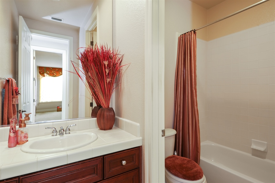 Real Estate Photography - 4420 Longview Dr, Rocklin, CA, 95677 - 3rd Bathroom Next To 4th and 5th Bedroom