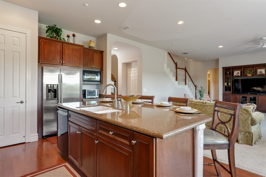 Real Estate Photography - 4420 Longview Dr, Rocklin, CA, 95677 - Kitchen With Granite Counter, Stainless Steel Appl