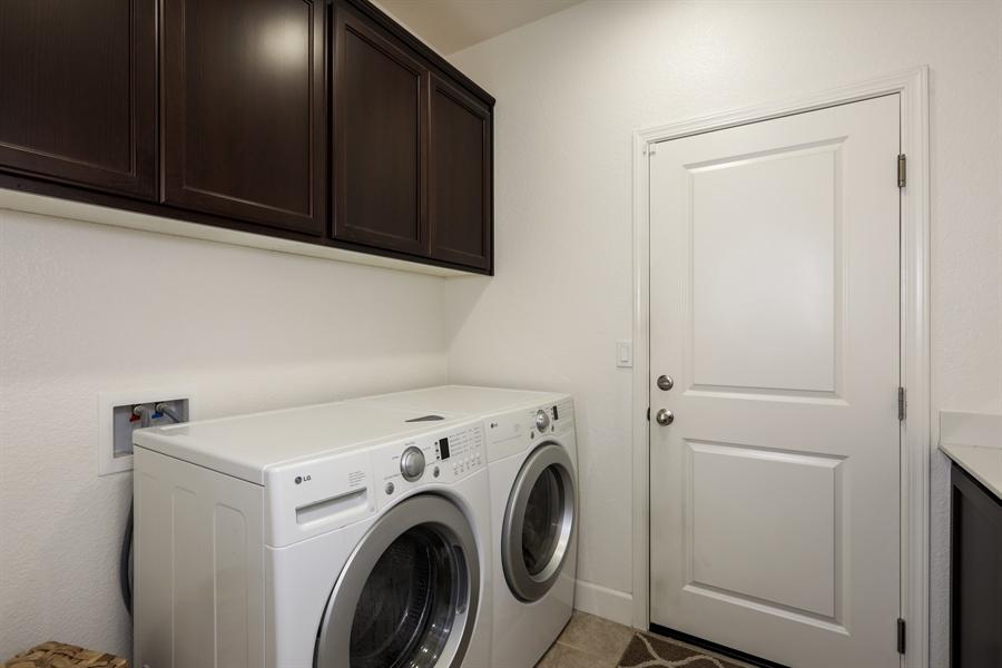 Real Estate Photography - 5616 Saratoga Circle, Rocklin, CA, 95765 - Laundry Room