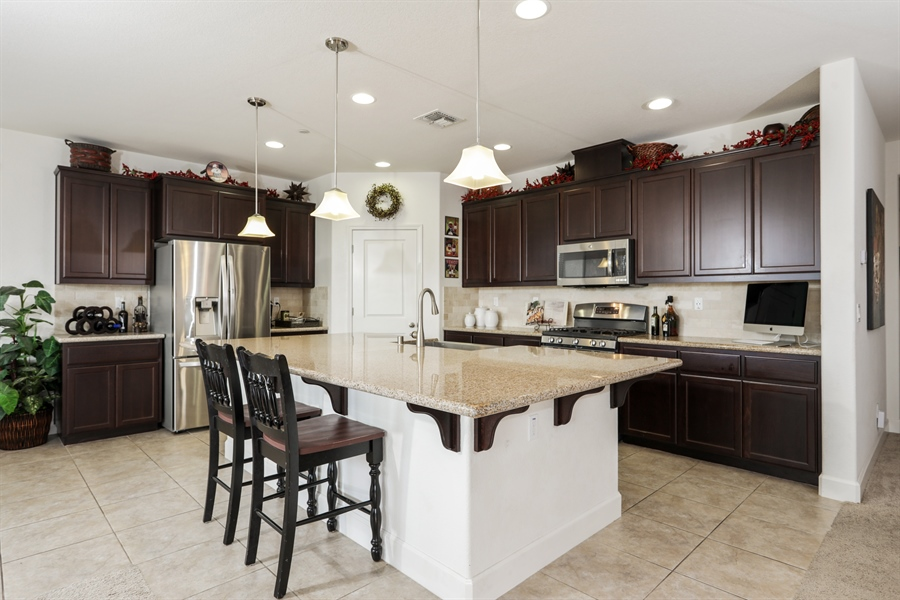 Real Estate Photography - 5616 Saratoga Circle, Rocklin, CA, 95765 - Kitchen
