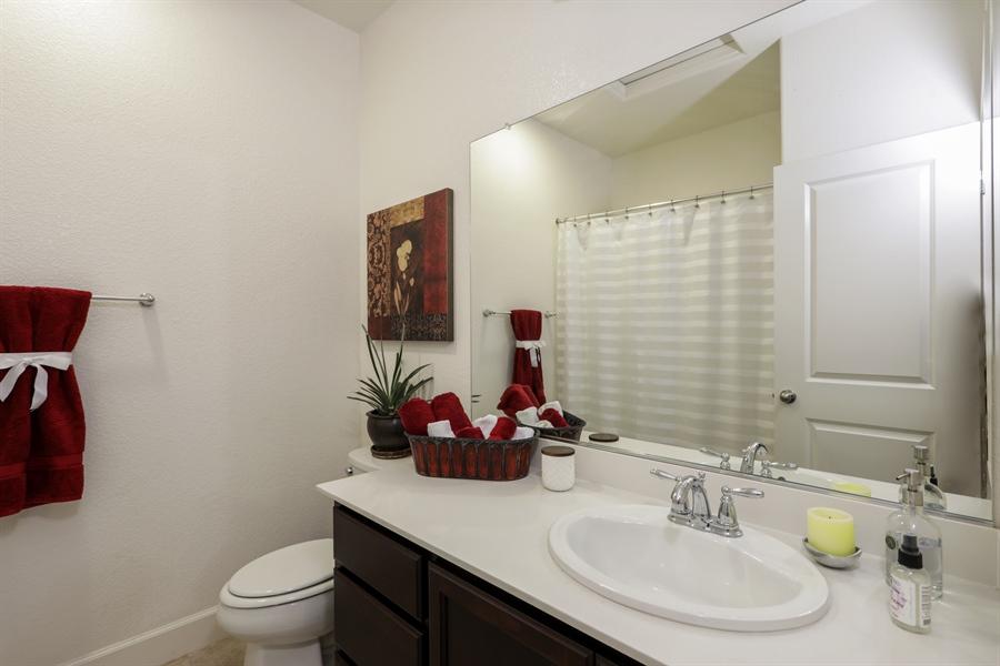 Real Estate Photography - 5616 Saratoga Circle, Rocklin, CA, 95765 - 2nd Bathroom