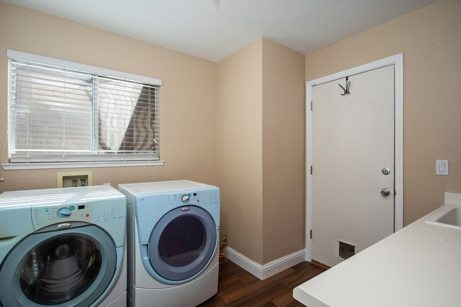 Real Estate Photography - 5609 Glen Oaks Drive, Rocklin, CA, 95765 - Laundry Room