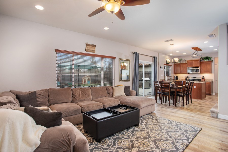 Real Estate Photography - 2264 Trimstone Way, Roseville, CA, 95747 - Family Room / Kitchen