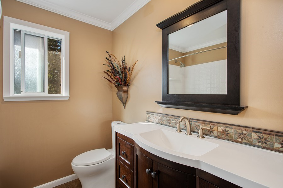 Real Estate Photography - 711 Quail Haven Rd, Colfax, CA, 95713 - Third bathroom-upstairs between bedrooms 2 & 3.