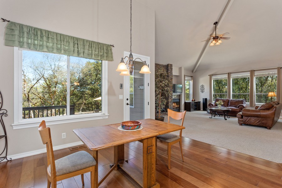 Real Estate Photography - 910 Eden Valley Rd, Colfax, CA, 95713 - Breakfast Area