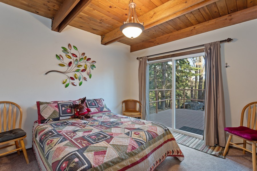 Real Estate Photography - 40980 Skyline Dr, Emigrant Gap, CA, 95715 - Downstairs  Bedroom 1