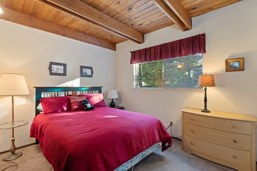 Real Estate Photography - 40980 Skyline Dr, Emigrant Gap, CA, 95715 - Downstairs 2nd Bedroom