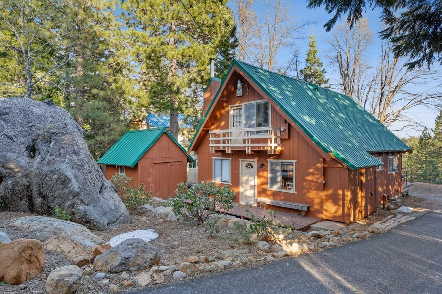 Real Estate Photography - 40980 Skyline Dr, Emigrant Gap, CA, 95715 - Front view with Work Shop
