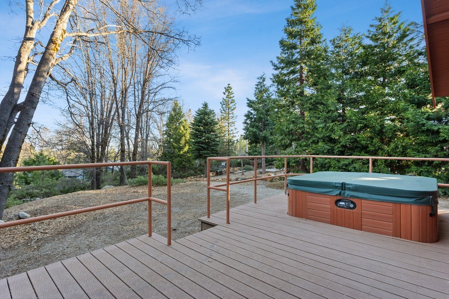 Real Estate Photography - 40980 Skyline Dr, Emigrant Gap, CA, 95715 - Back Deck with Hot tub