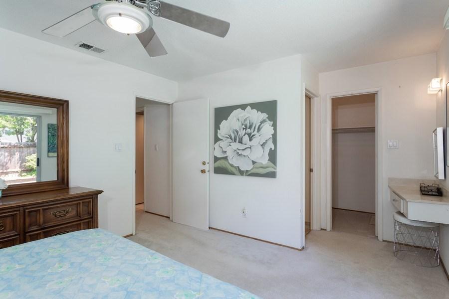Real Estate Photography - 8539 La Riviera Dr, Sacramento, CA, 95826 - Master Bedroom with built in vanity!