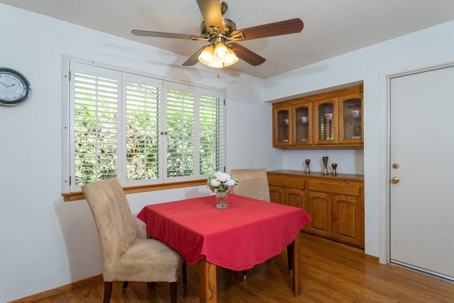 Real Estate Photography - 8539 La Riviera Dr, Sacramento, CA, 95826 - Dining area-window & built-in hutch!