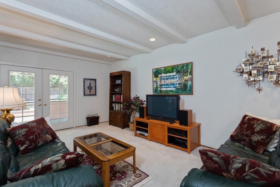 Real Estate Photography - 8539 La Riviera Dr, Sacramento, CA, 95826 - Step down to family room & access to patio & pool!