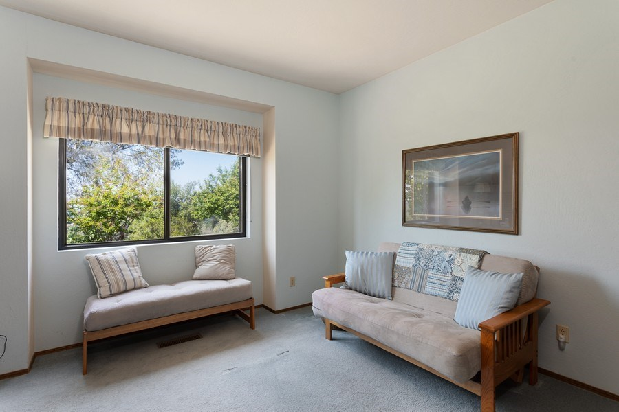 Real Estate Photography - 3570 Skyview Dr, Auburn, CA, 95602 - 3rd bedroom/office is near the kitchen.