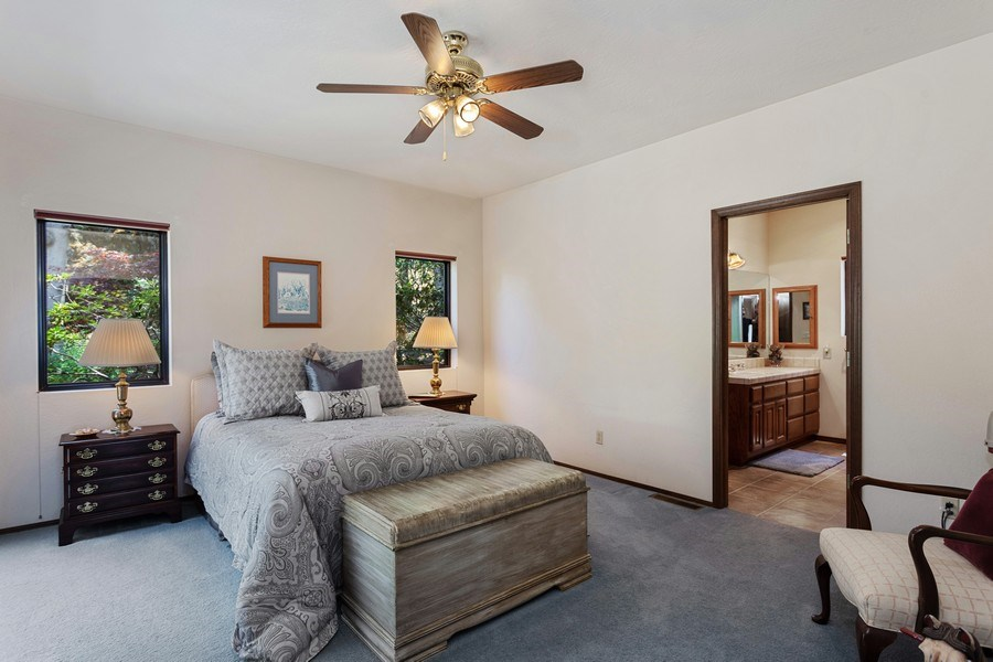 Real Estate Photography - 3570 Skyview Dr, Auburn, CA, 95602 - 2nd Bedroom suite has adjacent full bathroom.