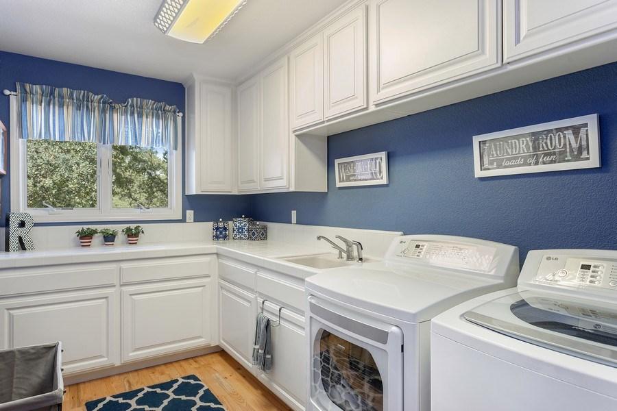 Real Estate Photography - 13485 Moss Rock Drive, Auburn, CA, 95602 - Laundry Room