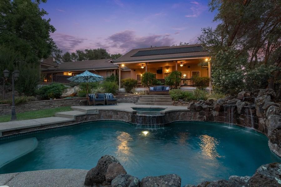 Real Estate Photography - 13485 Moss Rock Drive, Auburn, CA, 95602 - Rear View
