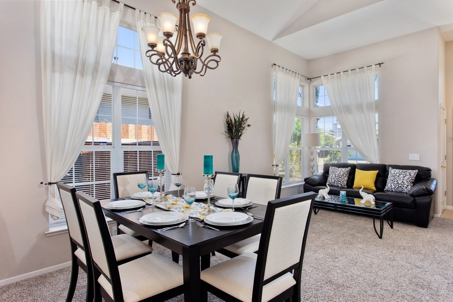 Real Estate Photography - 8438 Patmon Dr, Elk Grove, CA, 95624 - Living Room / Dining Room