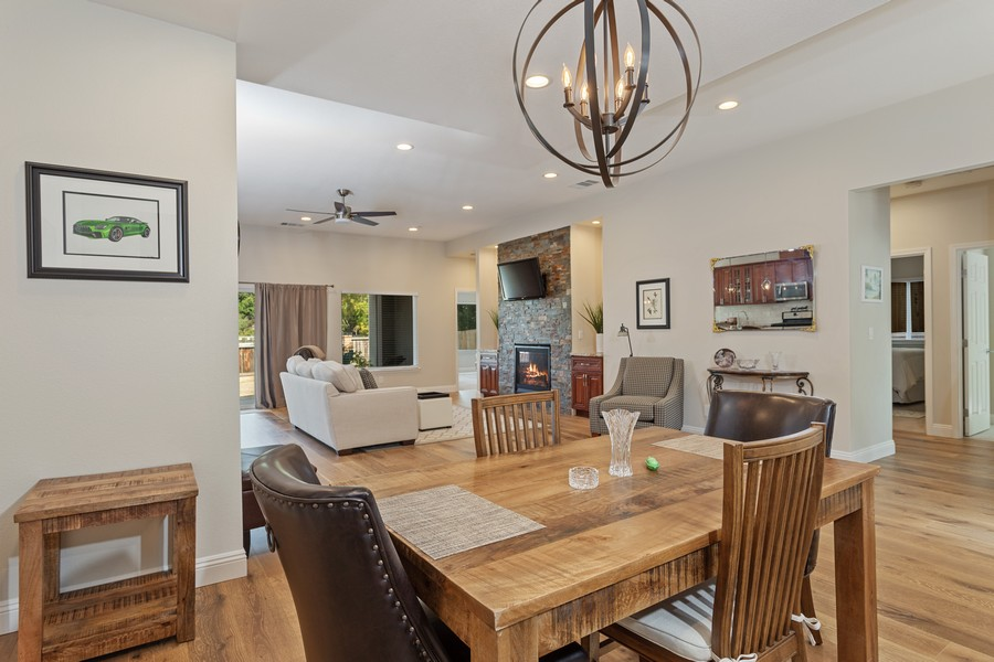 Real Estate Photography - 3205 Oxford Road, Cameron Park, CA, 95682 - Living Room/Dining Room