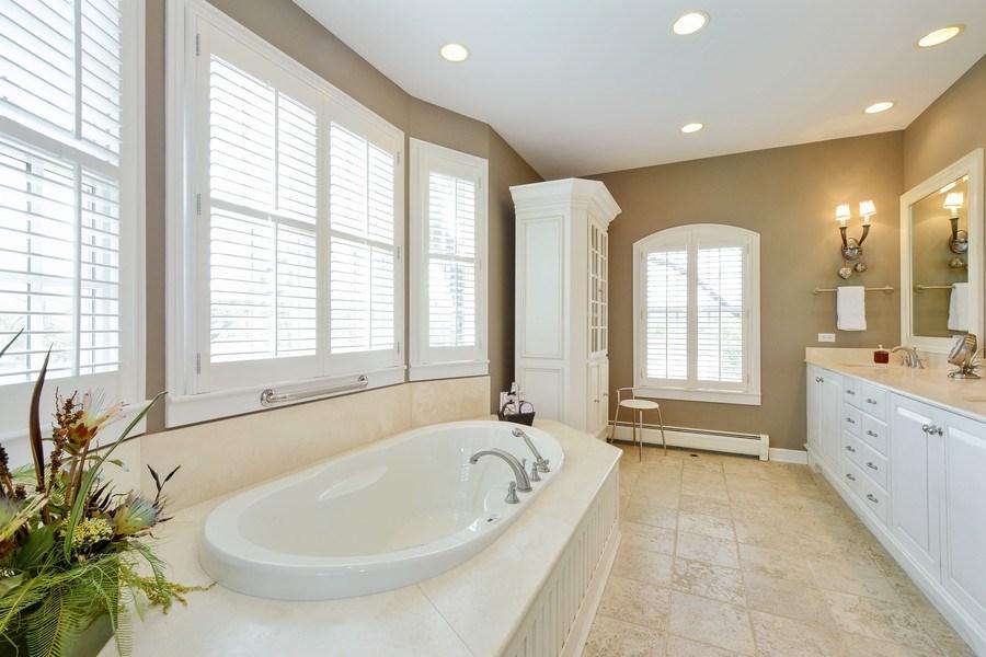 Real Estate Photography - 32 Oak Knoll Road, Barrington Hills, IL, 60010 - Master Bathroom