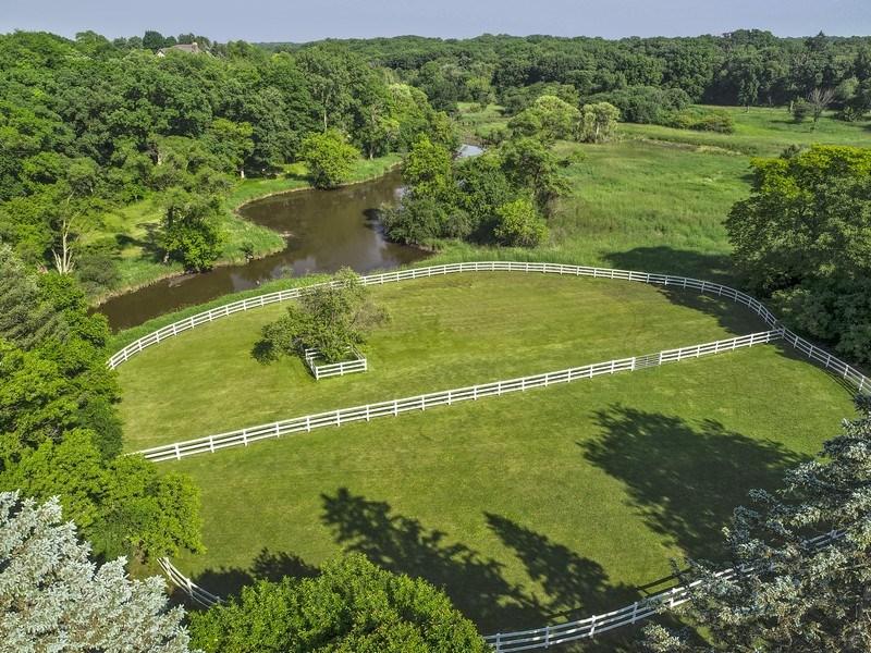 Real Estate Photography - 32 Oak Knoll Road, Barrington Hills, IL, 60010 - Pastures - Aerial