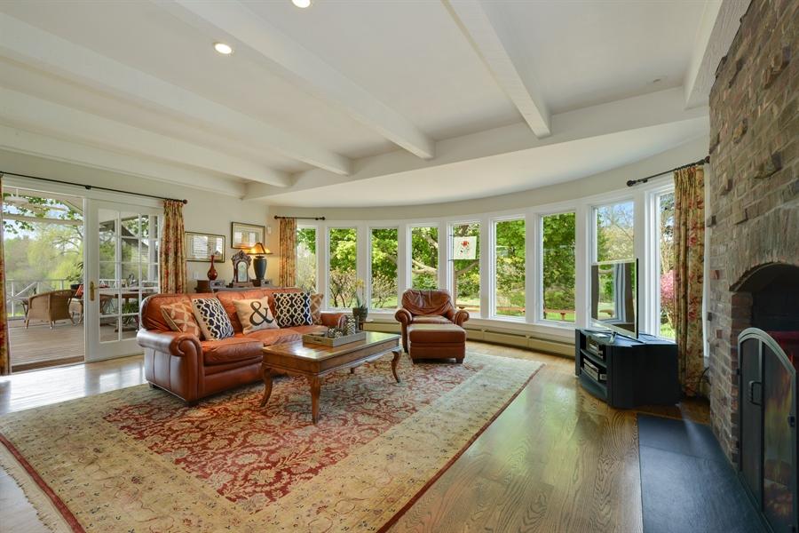Real Estate Photography - 32 Oak Knoll Road, Barrington Hills, IL, 60010 - Family Room