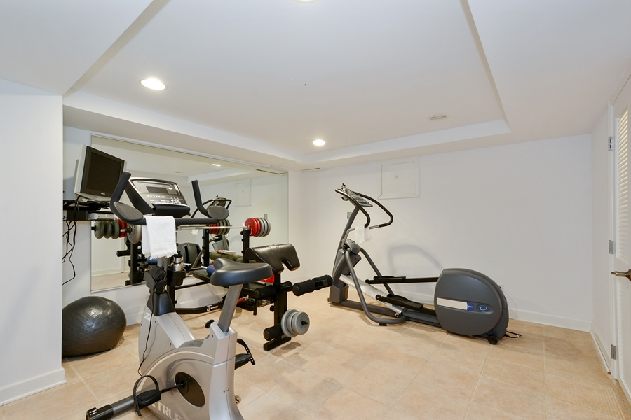 Real Estate Photography - 32 Oak Knoll Road, Barrington Hills, IL, 60010 - Fitness Room