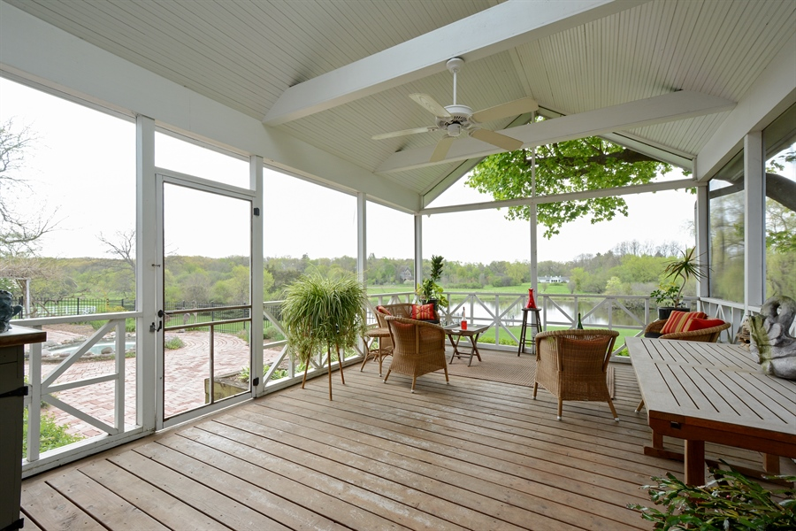 Real Estate Photography - 32 Oak Knoll Road, Barrington Hills, IL, 60010 - Screen Porch