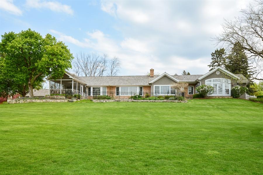 Real Estate Photography - 32 Oak Knoll Road, Barrington Hills, IL, 60010 - Rear View