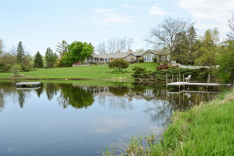 Real Estate Photography - 32 Oak Knoll Road, Barrington Hills, IL, 60010 - Lake View