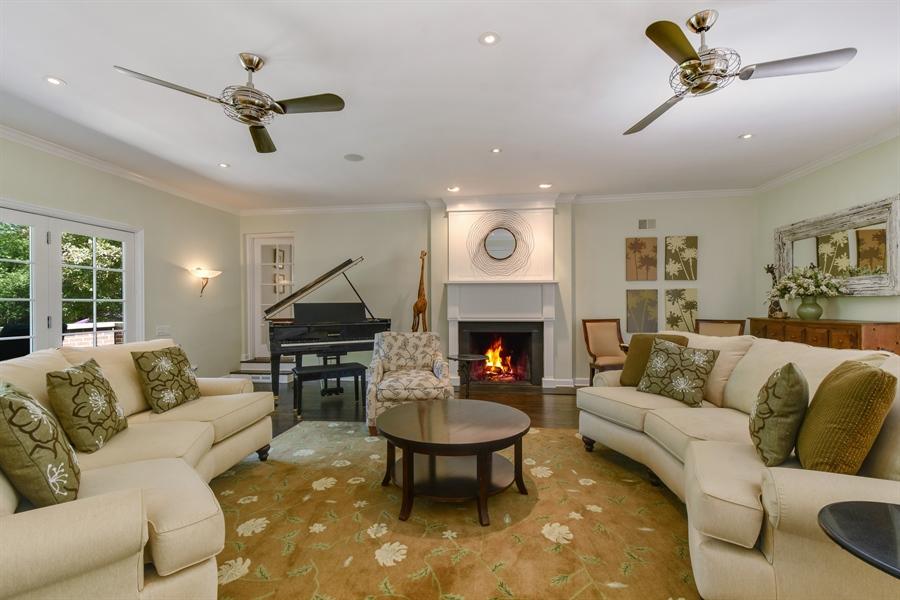 Real Estate Photography - 630 Elm Road, Barrington, IL, 60010 - Living Room