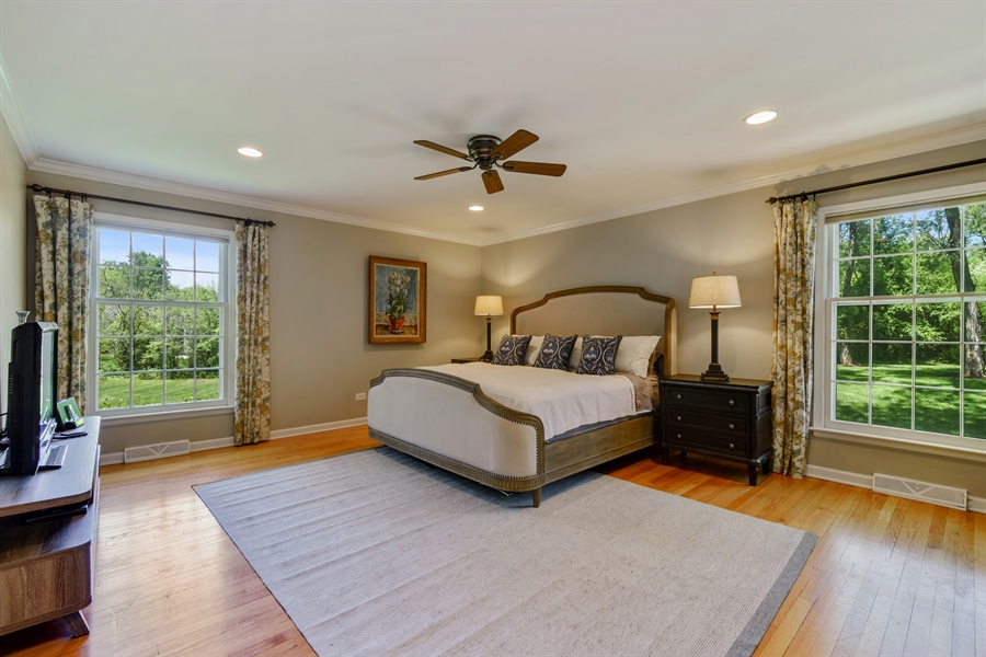 Real Estate Photography - 630 Elm Road, Barrington, IL, 60010 - Master Bedroom
