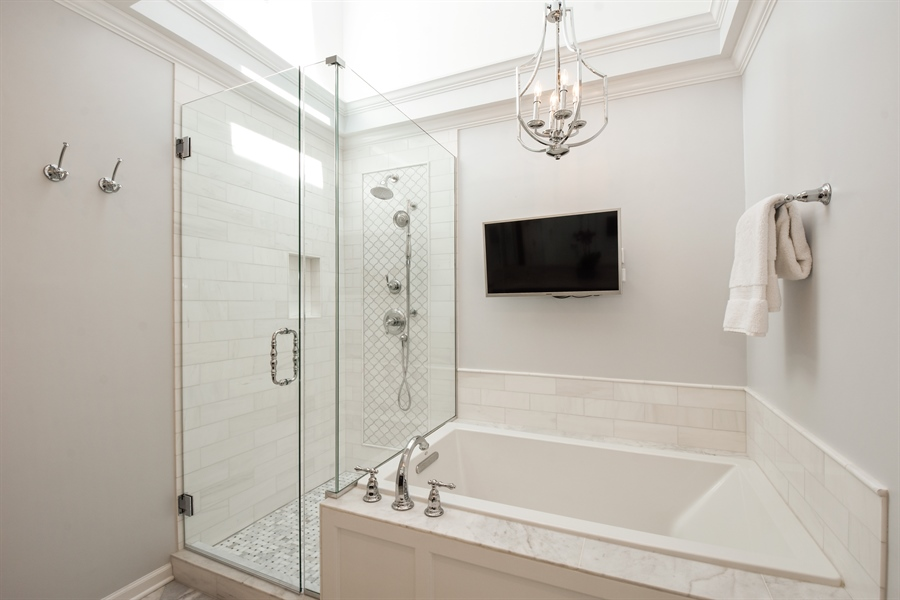 Real Estate Photography - 630 Elm Road, Barrington, IL, 60010 - Master Bathroom