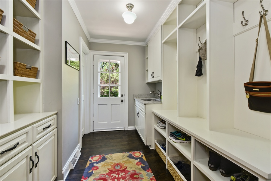 Real Estate Photography - 630 Elm Road, Barrington, IL, 60010 - Mudroom