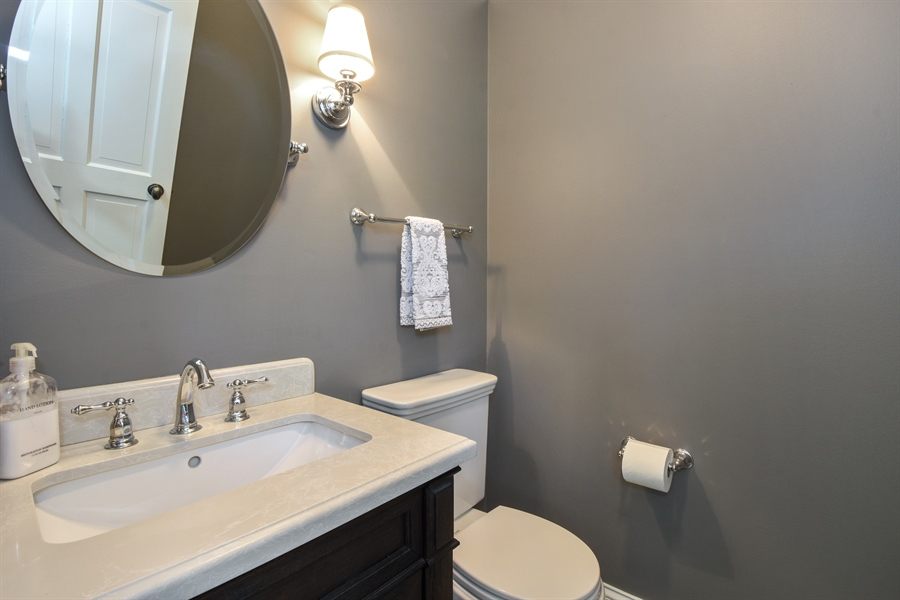 Real Estate Photography - 630 Elm Road, Barrington, IL, 60010 - Powder Room
