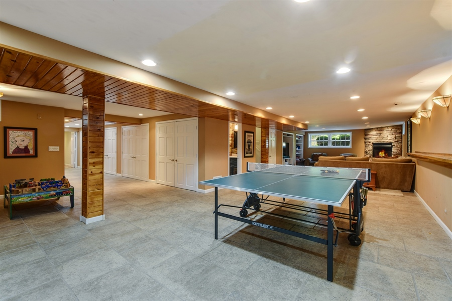 Real Estate Photography - 630 Elm Road, Barrington, IL, 60010 - Rec Room - Walk-Out Lower Level