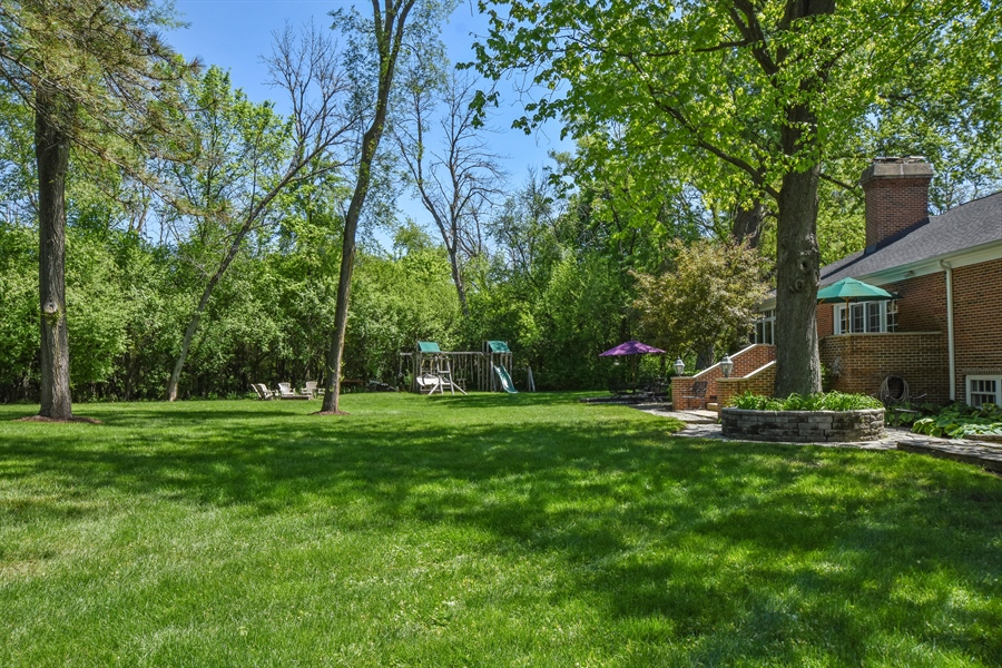 Real Estate Photography - 630 Elm Road, Barrington, IL, 60010 - Back Yard