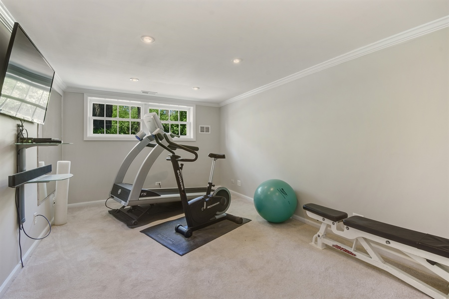Real Estate Photography - 630 Elm Road, Barrington, IL, 60010 - Fitness Room