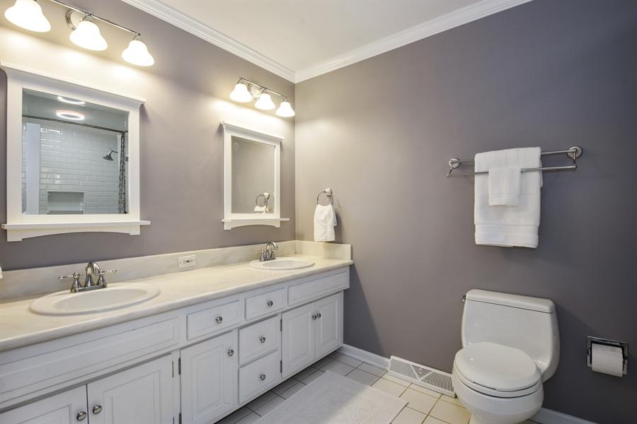 Real Estate Photography - 630 Elm Road, Barrington, IL, 60010 - Main Level Hall Full Bath