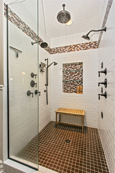 Real Estate Photography - 559 Oak Knoll Rd, Barrington Hills, IL, 60010 - Master Bathroom / Shower