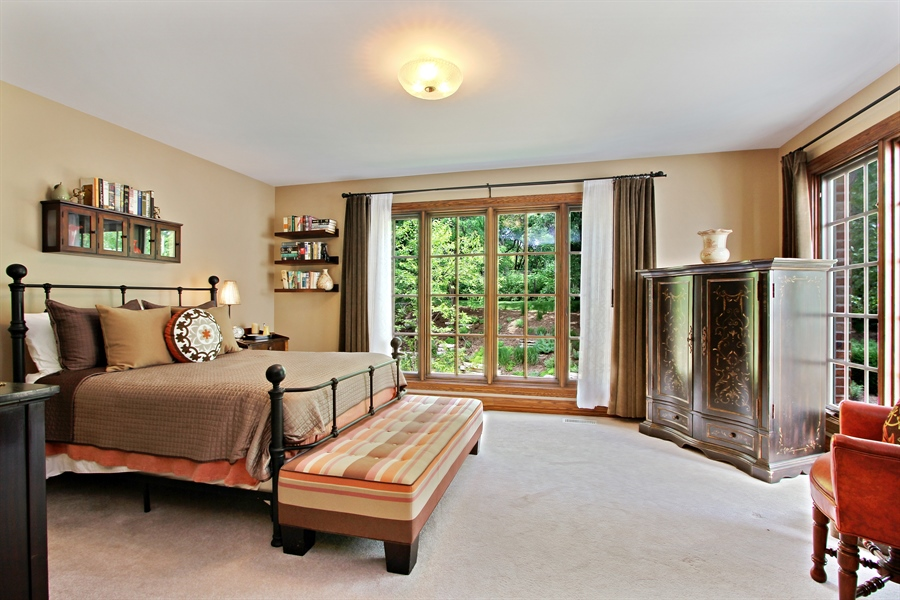Real Estate Photography - 559 Oak Knoll Rd, Barrington Hills, IL, 60010 - 2nd Bedroom Ensuite (bathroom not pictured)
